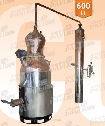 Απλής-Παραδοσιακής Απόσταξης Ούζου-Ρακί 600 lt