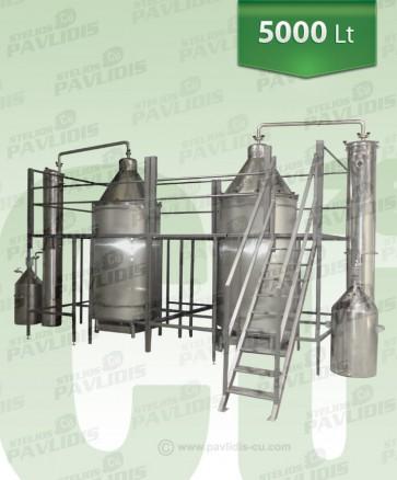 Βιομηχανικός-Αποστακτήρας Αιθέριων ελαίων ατμοαπόσταξης 5000 lt