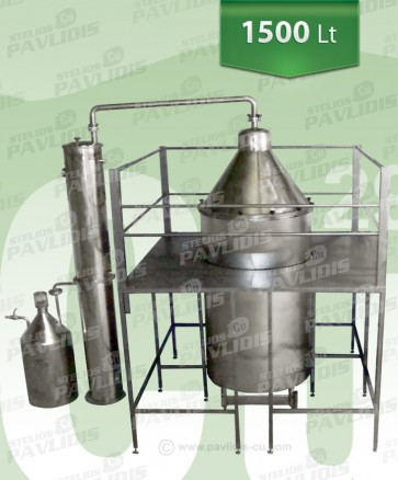 Βιομηχανικός αποστακτήρας Αιθέριων έλαιων SO-1.500lt