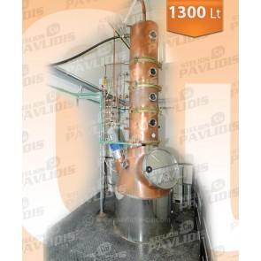 Βιομηχανικός Αποστακτήρας Κλασματικής Απόσταξης 1.300 lt
