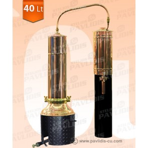 Πειραματικός Αποστακτήρας με Στήλες Επαναβρασμού 40 lit