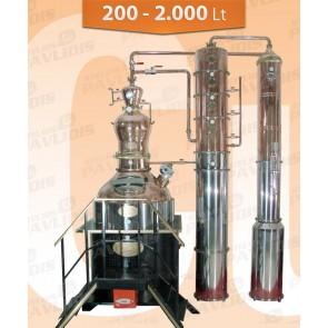Βιομηχανικός-Αποστακτήρας  200-2000 lt