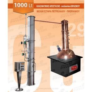 Βιομηχανικός Αποστακτήρας Κλασματικής Απόσταξης 1.000 lt