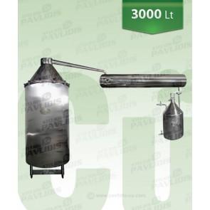 Βιομηχανικός-Αποστακτήρας με ΠΛΑΓΙΟ εναλλάκτη 3000 lt