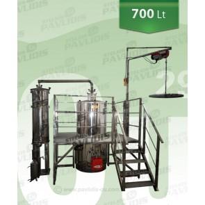 Βιομηχανικός Αποστακτήρας 700 lt